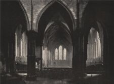 Interior of the Temple Church, Looking East. London 1896 old antique print