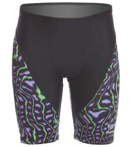 NWT Boys SPEEDO 7705841 Amplified Pulse Purple Swimsuit Jammers Sz 22, 4 - 4T