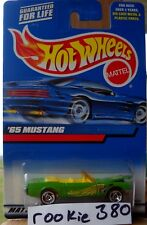 2000 Hot Wheels #201 ∞ '65 MUSTANG ∞ CLASSIC ROCK 1965 CONVERTIBLE GREEN