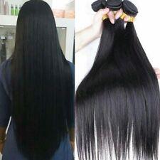Virgin Straight Hair 3 Bundles 8a Malaysian Human Hair Extensions 300g Weave 1b