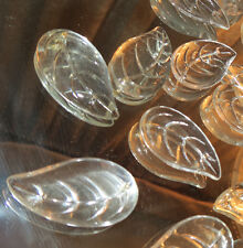 1 Fruit LEAF Bagues Vintage 2HOLE Czech Crystal Glass Prism Lamp Chandelier Part