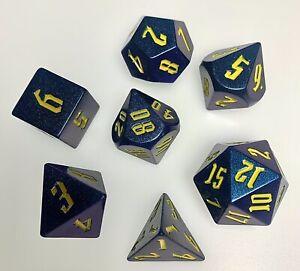 Dungeons & Dragons Poly Dice Set. Purple/Blue Light Change
