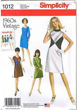 Vtg 60s Retro Color Block Dress Simplicity Sewing Pattern Plus Sz 20 22 24 26 28