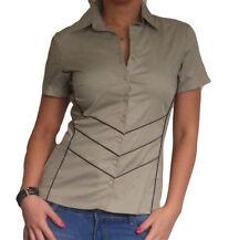 Maglie e camicie da donna in cotone beige taglia 44