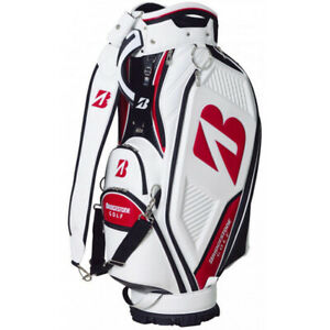 BRIDGESTONE Golf Men's Caddy Bag Pro Replica 9.5 x 47 in 4.4kg White Red CBG101