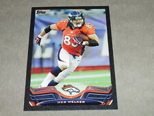 2013 Topps WES WELKER #340 Black SP/58 Denver BRONCOS - Texas Tech RED RAIDERS