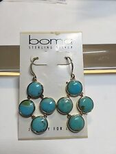 boma sterling silver + turquoise earrings