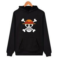 Anime One Piece Pirates Luffy Skull Hoodie Pullover SweatShirt Tops Cosplay Coat