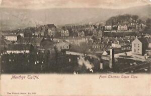 1903  MERTHYR TYDFIL  from Thomas Town Tips   Glamorgan  Postcard