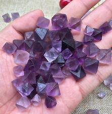 Natural Rare Purple Fluorite Quartz Crystal Pyramid  Specimen