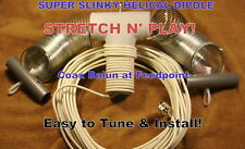 SUPER SLINKY DIPOLE HF ALL BAND ANTENNA, BALUN,50'  COAX