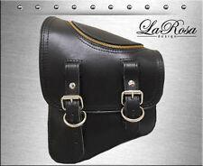 La Rosa Black Leather Zipper Open Harley V Rod Night Rod Special Left Saddle Bag