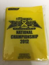 Yu-Gi-Oh Card Sleeve Asia Exclusive National Championship 2012 Yellow 100pcs New
