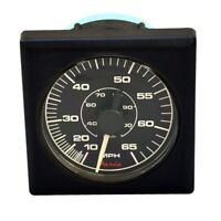 Faria Se9626 Black Square Bezel Boat 10-65 Mph Speedometer Gauge