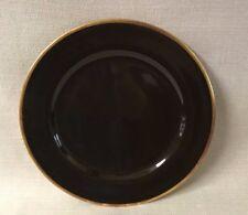 """Legle Limoges Sous Le Soleil Porcelain 11 3/4"""" Plate Charger Bronze Gold Trim"""