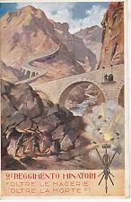 9 reggimento minatori II guerra non viaggiata regio esercito
