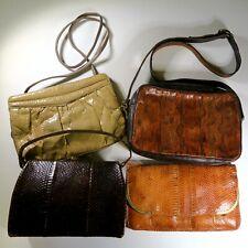 Vintage Snake Lizard Skin Frame Purse Clutch Handbag Lot of 4