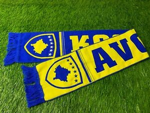 KOSOVO NATIONAL TEAM RARE FOOTBALL SOCCER FAN SCARF