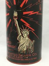 Fabulous Antique YOUREX Advertising Cardboard Tube w/ Tin Lid STATUE OF LIBERTY