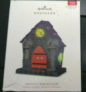 Hallmark Halloween Ghostly Mausoleum Ornament NEW