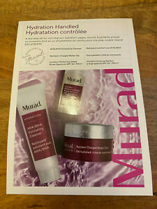 Murad Hydration Handled Kit Cleanser, Water Gel & Invisiblur Sealed gift set