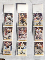 RARE 1992-93 PITTSBURGH PENGUIN FOODLAND STICKER STRIP (MCEACHERN/JAGR/MURPHY)