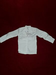 "White Formal Dress Shirt Accessory for 12"" Action Figure1:6 scale"