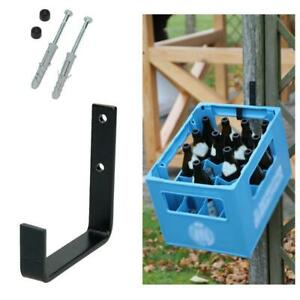 Kistenhalter 11x11cm schwarz Wandhalter Getränkekistenhalter Regal Halter Kasten