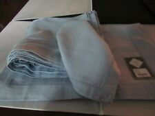Set of Waterford Hemstitch Placemats and Napkins – Light Blue – Some New