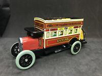 Vintage Tin Litho Wind-up Double Decker Omnibus