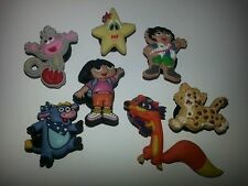DORA DIEGO BOOTS BENNIE SWIPER JAGUAR 7PC LOT SHOE CHARMS,FOR JIBBITZ CROC SHOES
