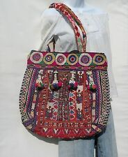 Authentic Gypsy Banjara XLG Tote Shoulder Bag Boho Bohemian 60s Patchwork Style 