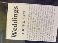 M3-8a 1941 dagenham. ww2 article wedding jessie brown frank cook worthington