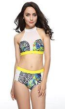 FIGRACE Women's padded Bikini Swimsuit Push up Swimwear XL UK20-22