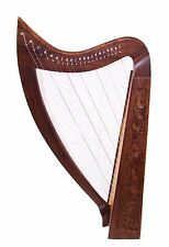 34 Inch Tall 21 String Harp Extra Strings free Tuning Key and Carrying case