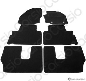 Ford Galaxy 7 Seater 2006 - 2014 Tailored Black Car Floor Mats Carpets 6pc Set