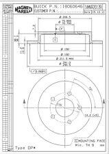Disc Brake Rotor-LS Rear Magneti Marelli 1AMVR20139