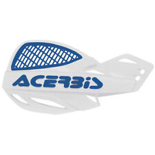 Acerbis MX Uniko Vented Handguards w/Fitting Kit - White/Blue