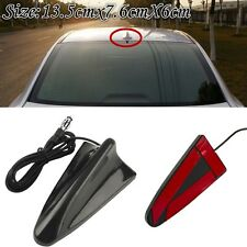 New Auto Car SUV Roof Radio AM/FM Signal Booster Shark Fin Aerial Antenna Black