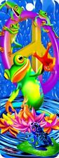 """Set of 3 Hologram 3D Bookmarks, PEACE FROG, CLOWN FISH, PEACE DOVES, 2.75"""" x 6"""""""