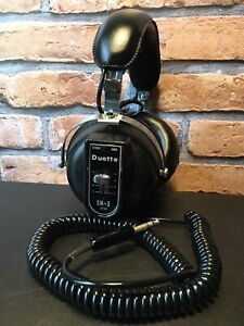 Vintage Duette SH-3 Stereo Hifi Headphones 70's 80's Retro Collectable - Tested