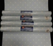 Polka Dots White on Blue Wallpaper Norwall  AB31011 (Lot of 4 Dbl Rls)