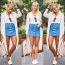 UK Womens High Waist Denim Skirt Bodycon Pencil Mini Jeans Skirt Stretch Dress