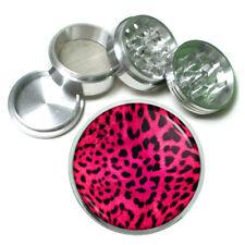 Animal Prints D4 63mm Aluminum Kitchen Grinder 4 Piece Herbs Pink Leopard