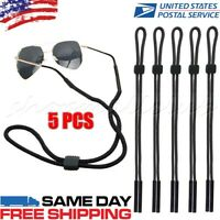 5 PCS Neck Strap Sport Sunglass Eyeglass Read Glasses Cord Lanyard Holder Black