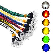 120pcs DC 12V Volt 5mm LED Pre Wired Clear Lights Emitting Diodes 6 Colors New