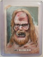 Walker #1 The Walking Dead Evolution Sketch Card Neil Camera Topps 1/1