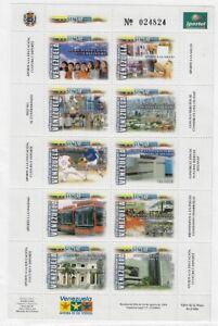 Venezuela: 2004; Scott 1643, sheet of 10. National tax custom, EBV375
