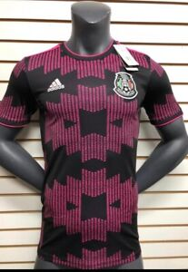 Adidas Mexico Home Soccer Jersey 2021 Black Pink Playera  Mexico Size Small Only