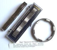 Magnetarmband MAGOR Edelstahl Magnet Armband Magnetfeldtherapie unisex
